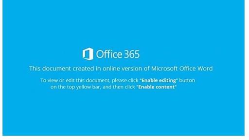 Office 365-Trojaner: bitte nicht öffnen - Bild